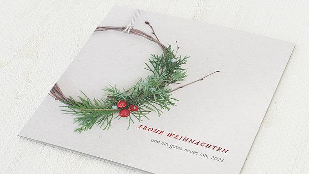 Weihnachtskarten Geschäftlich - Koniferenkranz