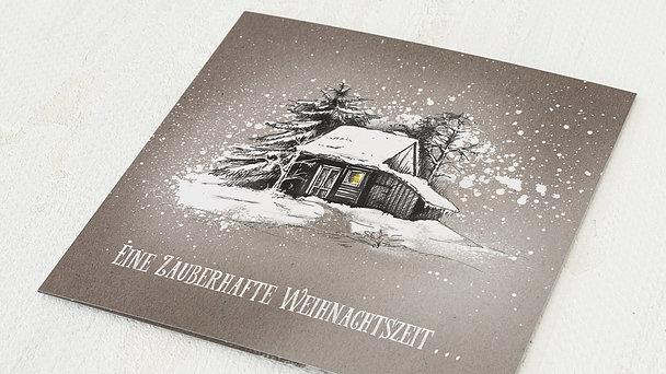 Weihnachtskarten Geschäftlich - Stille Zeit