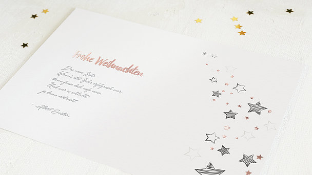 Weihnachtskarten Geschäftlich - Sternenflut