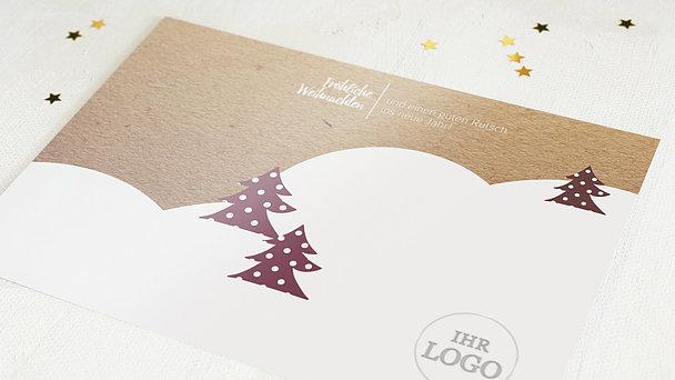 Weihnachtskarten Geschäftlich - Winter Forest