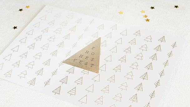 Weihnachtskarten Geschäftlich - Tannenpyramide