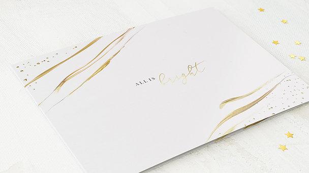 Weihnachtskarten Geschäftlich - Golden glow