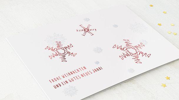 Weihnachtskarten Geschäftlich - Schriftflocken