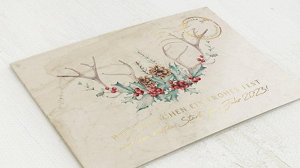 Weihnachtskarten Geschäftlich - Nostalgische Reise