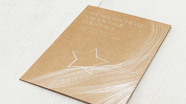Weihnachtskarten Geschäftlich - Lametta & Zimtsterne