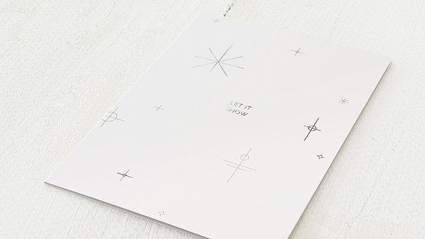 Weihnachtskarten Geschäftlich - Nordic snowflakes
