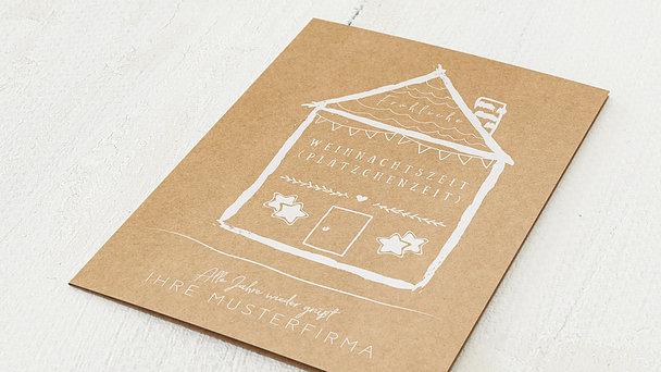 Weihnachtskarten Geschäftlich - Lebkuchenhaus
