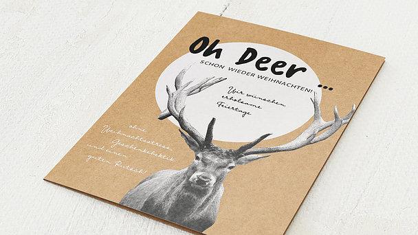 Weihnachtskarten Geschäftlich - Oh deer