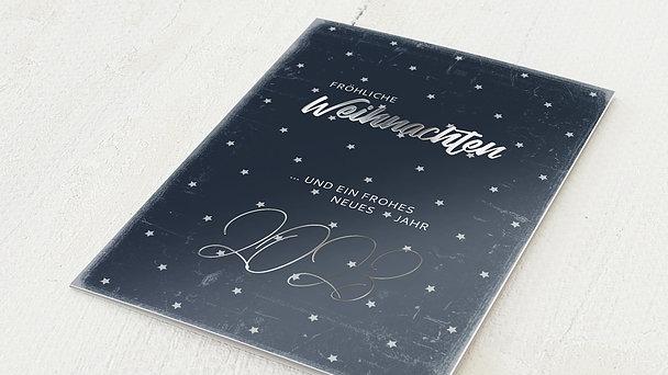 Weihnachtskarten Geschäftlich - Sternennacht