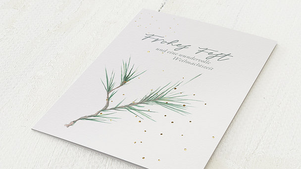 Weihnachtskarten Geschäftlich - Tannenzweiglein