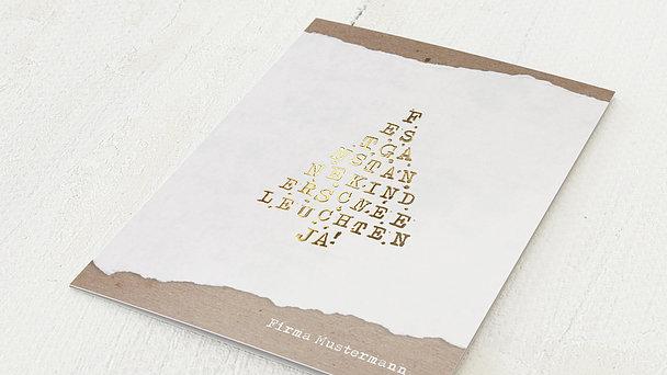 Weihnachtskarten Geschäftlich - Zuckerguss
