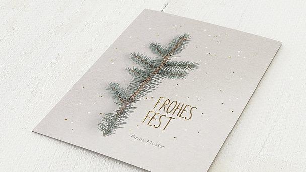 Weihnachtskarten Geschäftlich - Fichtenzweig