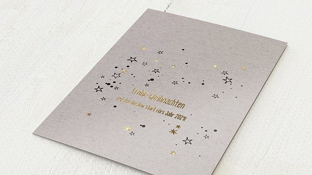Weihnachtskarten Geschäftlich - Sternenglänzen