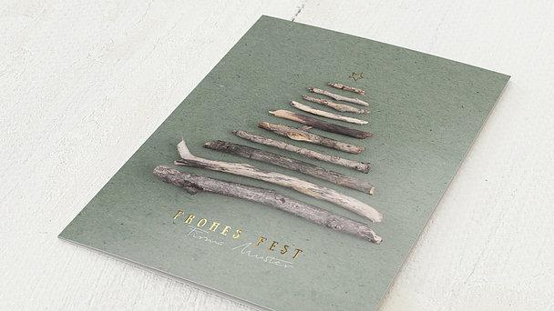 Weihnachtskarten Geschäftlich - Kleine Äste
