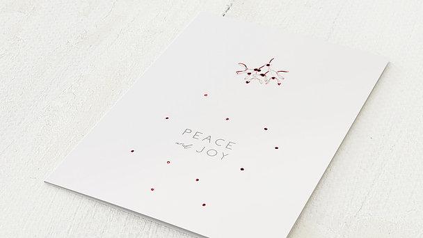 Weihnachtskarten Geschäftlich - Peace & Joy