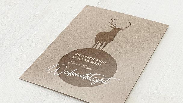 Weihnachtskarten Geschäftlich - Hirschkugel
