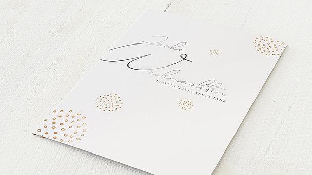 Weihnachtskarten Geschäftlich - Goldgefunkel