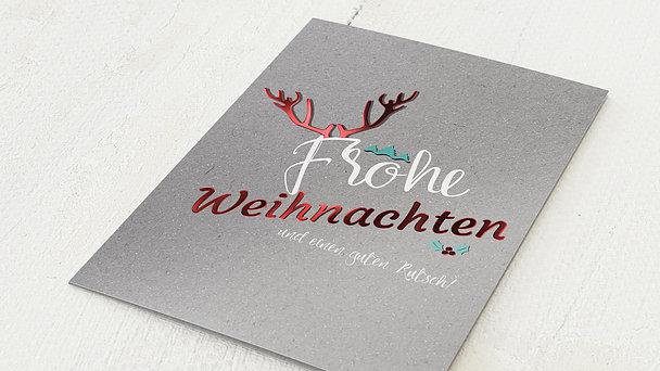 Weihnachtskarten Geschäftlich - Prächtiges Geweih