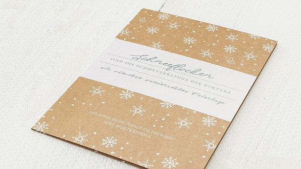 Weihnachtskarten Geschäftlich - Winterschönheit