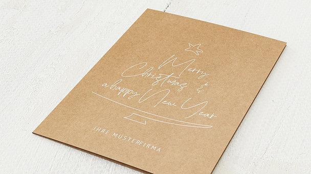 Weihnachtskarten Geschäftlich - Message tree