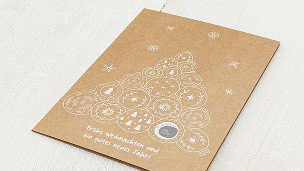 Weihnachtskarten Geschäftlich - Kugeliger Baum