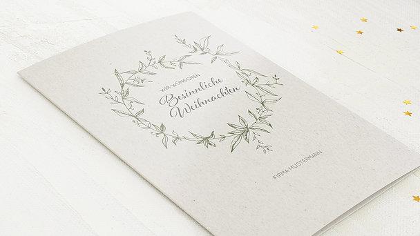 Weihnachtskarten Geschäftlich - Festtagskranz