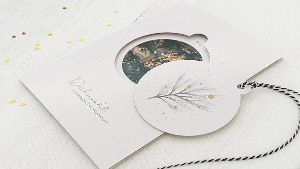 Weihnachtskarten Geschäftlich - Lichterzweig