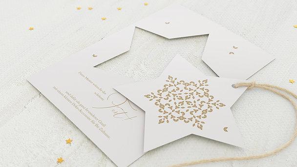 Weihnachtskarten Geschäftlich - Geometrischer Stern