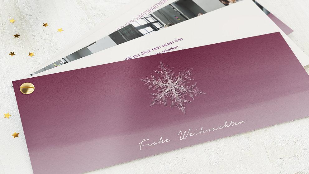 weihnachtskarten gesch ftlich erste schneeflocke detail. Black Bedroom Furniture Sets. Home Design Ideas