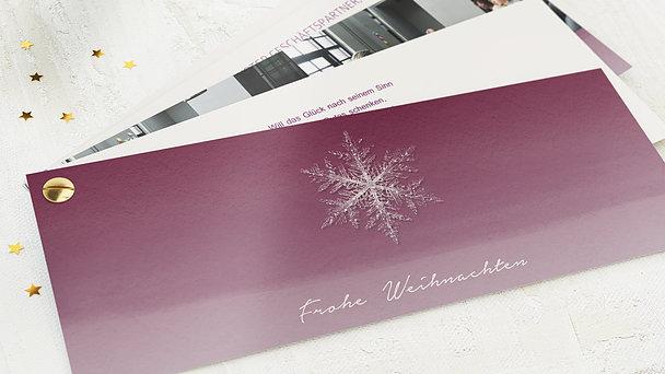 Weihnachtskarten Geschäftlich - Erste Schneeflocke