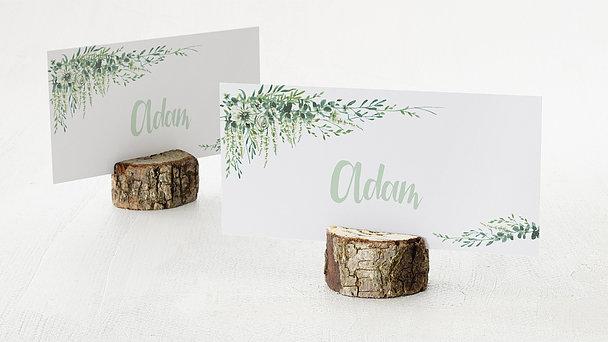 Tischkarten Hochzeit - Grüne Pracht