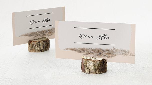 Tischkarten Hochzeit - Vintage dried