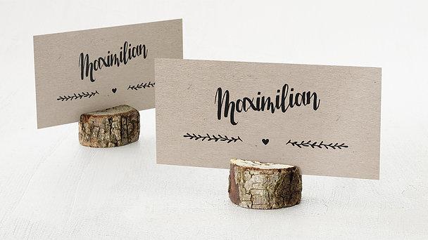 Tischkarten Hochzeit - Kraftpapier