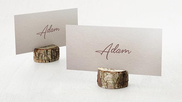 Tischkarten Hochzeit - Weicher Glanz