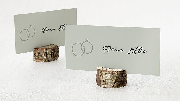 Tischkarten Hochzeit - Sage Rings