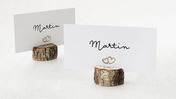 Tischkarten Hochzeit - Zarte Ringe