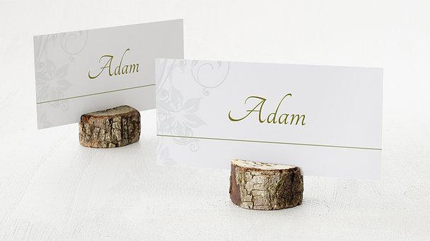 Tischkarten Hochzeit - Weiße Hochzeit