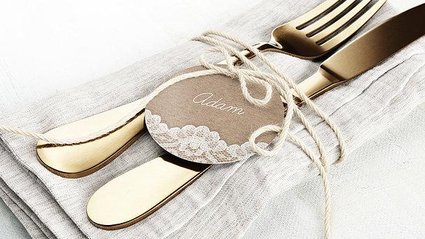 Tischkarten Hochzeit - Hochzeitsspitze