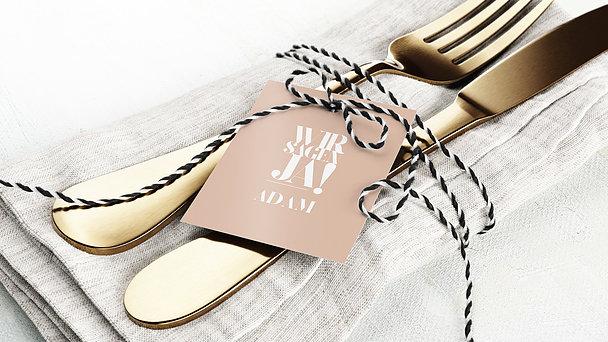 Tischkarten Hochzeit - Das große Wort