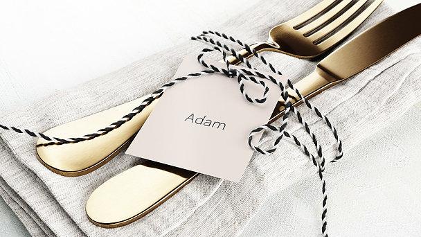 Tischkarten Hochzeit - Innige Liebe
