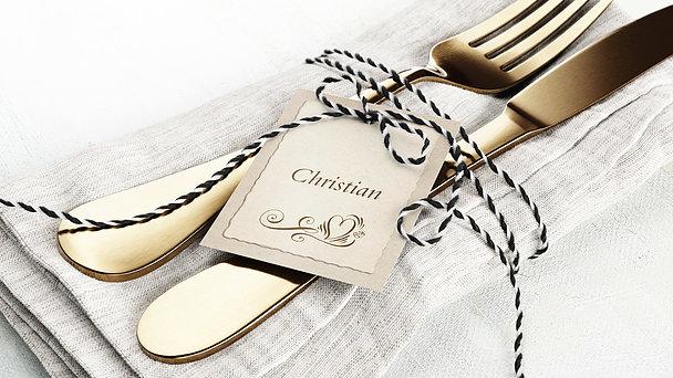Tischkarten Hochzeit - Romantische Post