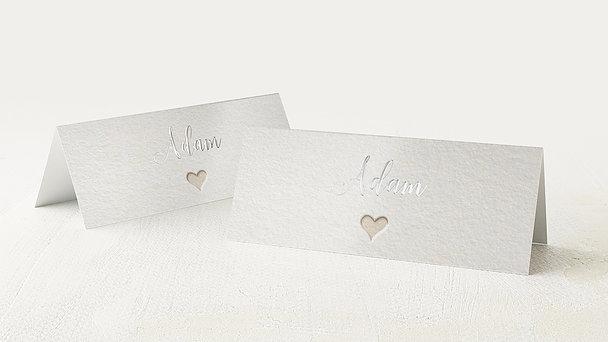 Tischkarten Hochzeit - Liebesvers