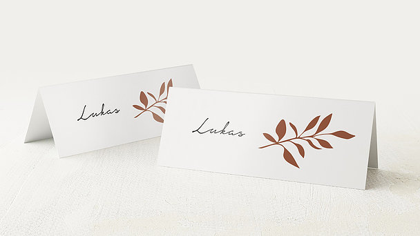 Tischkarten Hochzeit - Elegante Initialen