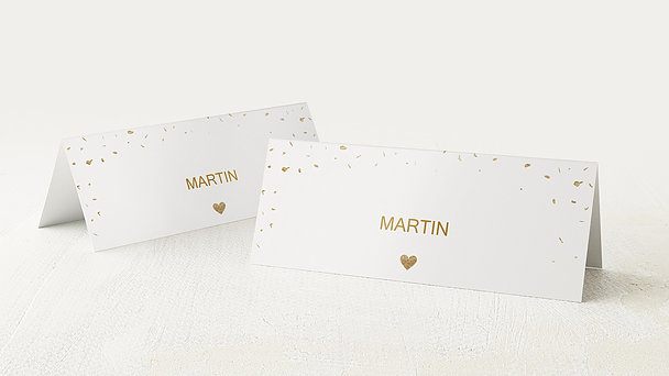 Tischkarten Hochzeit - Goldsturm