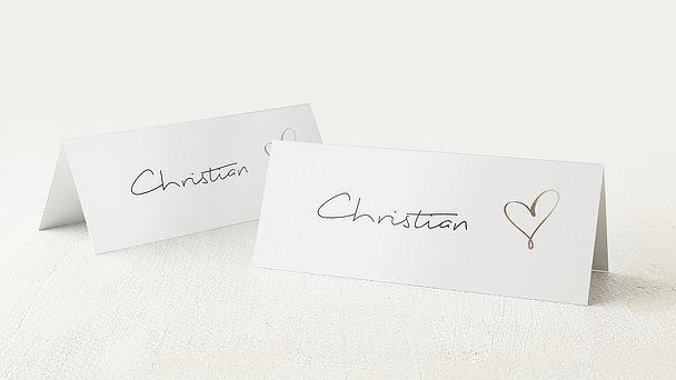 Tischkarten Hochzeit - Schmetterlingslachen