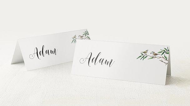 Tischkarten Hochzeit - Liebesnest