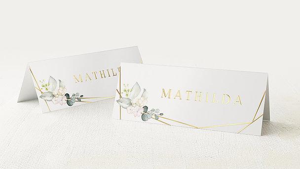 Tischkarten Hochzeit - Tender Florals
