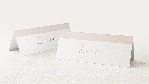 Tischkarten Hochzeit - Seite an Seite