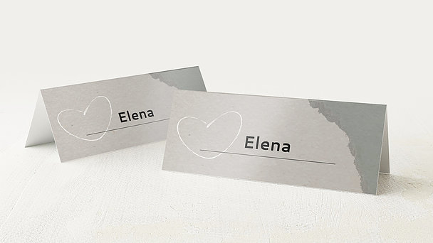 Tischkarten Hochzeit - Liebesursache