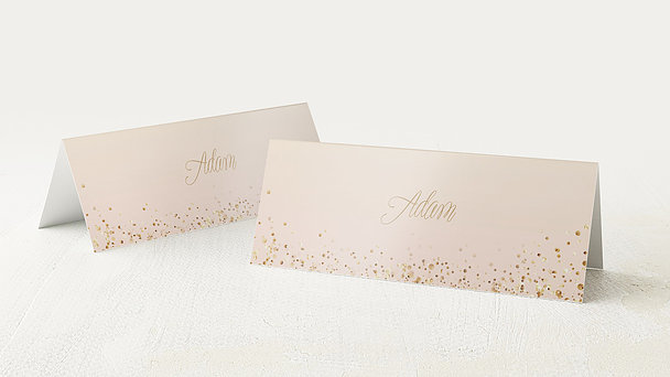 Tischkarten Hochzeit - Geflitter